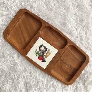 Vintage Leilani Monkey Pod Wood Charcuterie Board